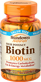 High Potency Biotin 1000 mcg 120 Tablets