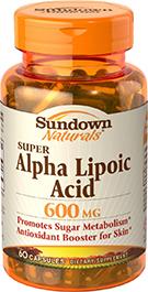 Super Alpha Lipoic Acid 600 mg 600 mg  60 Capsules