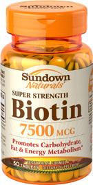 Biotin 7500 mcg 7500 mcg  50 Tablets