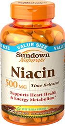 Niacin 500 mg Time Release 200 Caplets