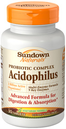 Probiotic Complex Acidophilus Multi-Enzyme Formula 30 Tablets