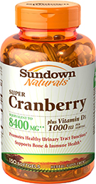 Super Cranberry 8400 mg plus Vitamin D3 1000 IU 150 Softgels