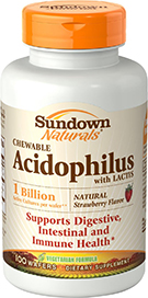 Chewable Strawberry Acidophilus with Bifidum 100 Wafers