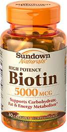 High Potency Biotin 5000 mcg 5000 mcg  60 Capsules