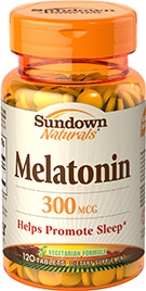 Melatonin 300 mcg Supplement 300 mcg  120 Tablets