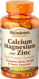 Calcium, Magnesium and Zinc 100 Caplets