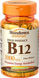 High Potency Vitamin B12 1000 mcg Time Release 1000 mcg  60 Tablets