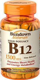 High Potency Vitamin B12 1500 mcg Time Released 1500 mcg  60 Tablets
