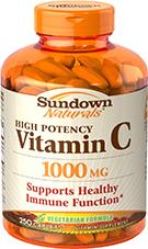 High Potency Vitamin C 1000 mg 250 Caplets