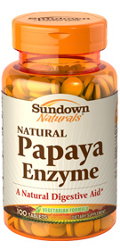 Natural Papaya Enzyme 100 Chewable Tablets