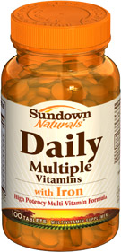 Daily Multiple Vitamins with Iron 100 Tablets