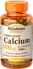 Calcium 1200 mg plus Vitamin D3 Liquid Filled Softgel 60 Softgels