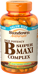 High Potency Super B Maxi Complex 200 Caplets