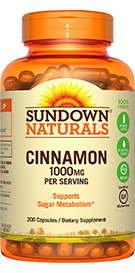 Support your sugar metabolism with Cinnamon!*