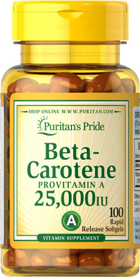 Beta-caroteno, 25.000 UI
