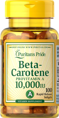 Beta-caroteno, 10.000 UI