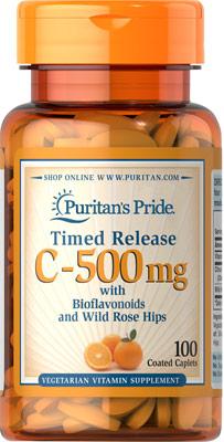 ビタミンC 500 mg.・ローズヒップ配合 タイムリリース
