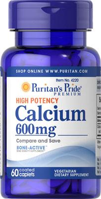 カルシウム 600 mg.