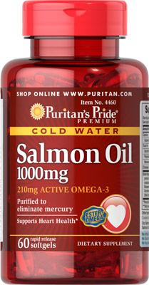 オメガ3 サーモンオイル 1000 mg.