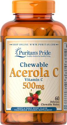 チュアブル・アセロラ  500 mg.