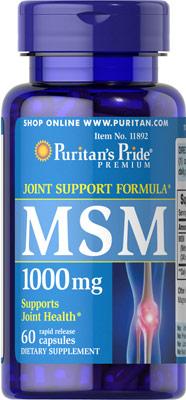MSM (メチルスルフォニルメタン)1000 mg.