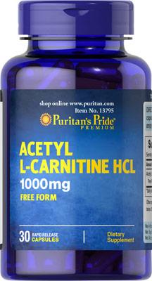 アセチルL-カルニチン 1000 mg.
