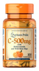 Vitamin C-500 mg with Bioflavonoids & Rose Hips  100 Caplets 500 6.99