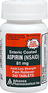 Low Dose Aspirin 81 mg