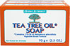 Tea Tree Oil Soap <p><strong>From Product Label:</strong><br /></p>Vegetable-Based Formula<p></p><p>Tea Tree is a pure oil, culled from the leaves of a tree (Melaleuca alternifolia), native to Australia. Traditionally, it has been used as a topical agent for the skin. The Australian standard requires that the oil of Melaleuca alternifolia must be composed of less than 15% cineloe and over 30% terpinen-4-ol. Holland & Barrett Tea Tree Oil is