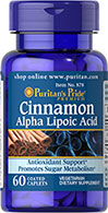 Cinnamon Extract 350 mg & Alpha Lipoic Acid 150 mg