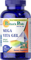 Mega Vita Gel Multi-Vitamin Softgel  240 Softgels N/A 52.99