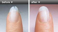 Brush On Nail Repair Before and After