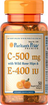 Vitamins C & E 500 mg/400 IU with Rose Hips