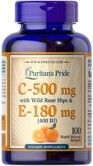 Vitamin C & E 500 mg/400 IU with Rose Hips