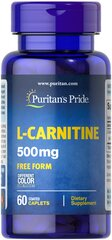 L-Carnitine 500 mg  60 Caplets 500 13.99
