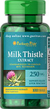 Milk Thistle Standardized 250 mg (Silymarin)