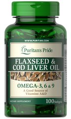 Flaxseed & Cod Liver Oil 1000 mg