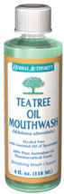Tea Tree Oil Mouthwash  <p>- Revitalizing Mouth Cleanser</p>  <p>- With Essential Oil of Spearmint</p>  <p>- 100% Pure Australian Tea Tree Oil</p>  <p>- Refreshing, Protecting, Invigorating</p>  <p>- Paraben Free</p>  <p>Tea Tree Oil Mouthwash is a revitalizing cleanser designed to excite, enliven and invigorate your mouth. It is specially formulated to complement your basic oral care.</p> 4 fl oz Liquid  $5.99