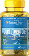 Cod Liver Oil & Evening Primrose Oil 1000mg