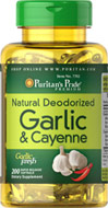 Natural Deodorized Garlic & Cayenne 300 mg / 150 mg