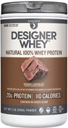 Whey Protein Chocolate <p><b>From the Manufacturer's Label:</b></p> <p>Whey Protein Chocolate is manufactured by Designer Whey.</p> <p>Available in Chocolate, Vanilla, Double Chocolate and Vanilla Praline  flavors.</p> 2 lbs Powder  $22.99