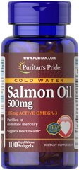 Omega-3 Salmon Oil 500 mg (105 mg Active Omega-3)