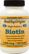 High Potency Biotin 5000mcg