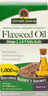 Flaxseed Oil Omega 3,6, & 9 Fatty Acids 1,000 mg