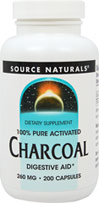 100% Pure Activated Charcoal 260 mg