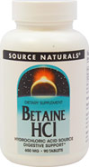 Betaine Hydrochloride with Pepsin 650mg