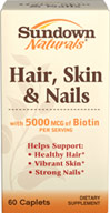 Hair, Skin & Nails with 5000mcg of Biotin