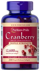 Triple Strength Cranberry Fruit Concentrate 1200 mg