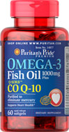 Omega-3 Fish Oil 1000 mg Plus Co Q-10