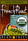 Organic French Roast Whole Bean Coffee - 2 Bags